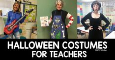 Looking for the perfect Halloween Costumes for Teachers? We have you covered with this collection of costumes that are perfect for school! Kindergarten Teachers, New Teachers, Kindergarten Activities, Teacher Halloween Costumes, Halloween Crafts, Halloween Stuff, Halloween Makeup, Vintage Halloween, Fall Halloween