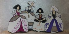 CUADRO MENINA (BACB514) Easy Canvas Painting, Disney Characters, Illustration, Various Artists, Painting, Decoupage, Pluto The Dog, Art Nouveau, Art