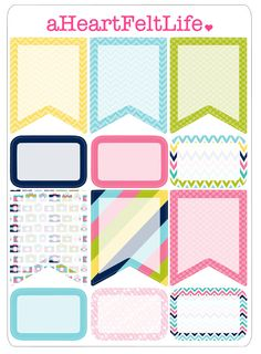Preppy Camera Banner Set for your Planner by aHeartFeltLife