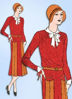 1930s VTG Ladies Home Journal Sewing Pattern 6428 FF Misses Flapper Dress Sz 36B #LadiesHomeJournal #FlapperDress