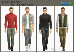 OleSims: Male jeans and high top sneakers by OleSims • Sims 4 Downloads