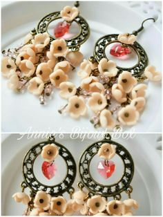 Polymer clay flowers earrings