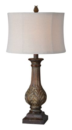 """Evelyn 31"""" H Table Lamp with Drum Shade 