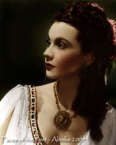 Vivien Leigh. Originaly BW picture coloured by me.