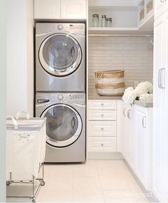 small laundry room, farmhouse laundry room, laundry room diy, laundry room desig… - Top Of The World Mudroom Laundry Room, Laundry Room Layouts, Laundry Room Remodel, Laundry Room Cabinets, Farmhouse Laundry Room, Laundry Room Organization, Laundry In Bathroom, Organization Ideas, Storage Ideas