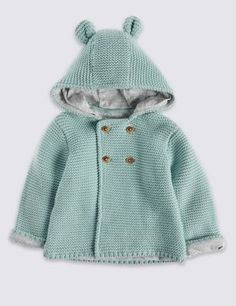This cute cardigan will keep your little one cosy and comfortable. Pure cotton makes it extra snuggly and soft.