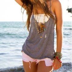 shirt and bandeau
