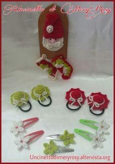Barrettes elastic Christmas crochet for girls