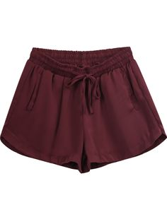 To find out about the Red Drawstring Waist Pockets Shorts at SHEIN, part of our latest Pants ready to shop online today! Ripped Shorts, Cute Shorts, Sport Outfits, Cool Outfits, Teen Fashionista, Cute Fashion, Fashion Outfits, Velvet Shorts, Tumblr Outfits