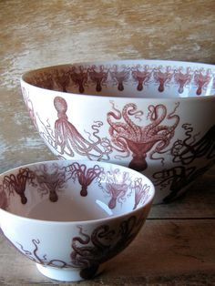 Octopus Serving Bowls