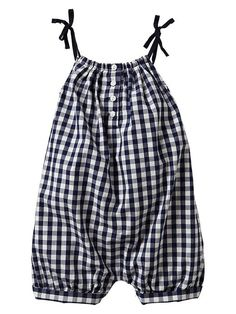 Checkered bow romper Product Image