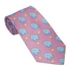 Luxley and Bernard Pink with Blue Elephants tie. TieTry isn't netflix for ties.
