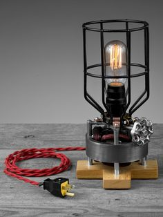 Upcycled Electric Motor Lamp by BlinkLab on Etsy