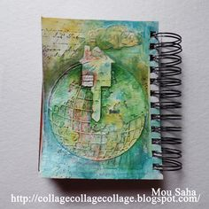 Mou Shou for Faber-Castell with a journal page using Tim Holtz, Ranger, Idea-ology, Sizzix and Stamper's Anonymous products; July 2015