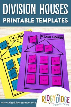 Division Facts can often be a chore to learn and memorise! Add some fun and excitement to your multiplication program by including these Time Tables Houses Activity Sheets in your Math Centres today.