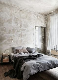 9 Successful Simple Ideas: Warm Minimalist Home Exposed Brick room minimalist bedroom sleep.Minimalist Home Scandinavian Spaces minimalist living room black modern.Minimalist Home Tour Chairs. Men's Bedroom Design, Industrial Bedroom Design, Home Decor Bedroom, Bedroom Ideas, Industrial Style, Bedroom Ceiling, Industrial Living, Bedroom Inspiration, Bedroom Wall