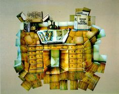 photographic collage by David Hockney