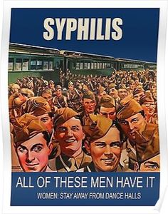 vintage photo Syphilis sexually transmitted disease, All of these men soldiers have it, Women Stay away from dance halls, World War Two propaganda Vintage Humor, Pub Vintage, Vintage Posters, Funny Vintage Ads, Creepy Vintage, Vintage Ladies, Retro Ads, Vintage Advertisements, Vintage Advertising Posters