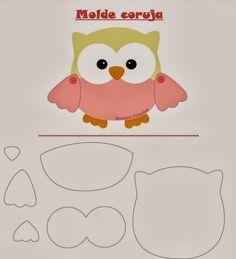 Friendly Felt: Template Owl Boutique D 'Caroline Owl Patterns, Applique Patterns, Craft Patterns, Owl Applique, Owl Crafts, Diy And Crafts, Paper Crafts, Paper Toys, Felt Owls