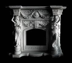 Камин Августиан   (--Скульптуры, барельефы, )
