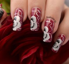 NAIL ART ONE STROKE ROSES CLASSIQUES