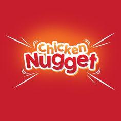 Typography Chicken Nugget