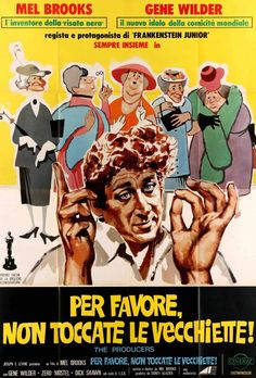 Producers (1967) Original 4 Fogli Movie Poster