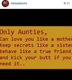 Only aunties....
