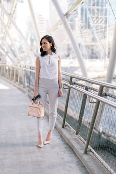 Light colors and textures are key to a chic work wardrobe this season.