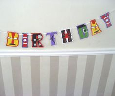 Avengers HAPPY BiRTHDAY Banner - Captain America, Iron Man, Black Widow, Hawkeye, Hulk, Thor