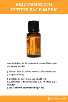 doTERRA Rejuvenating Citrus Face Mask Recipe