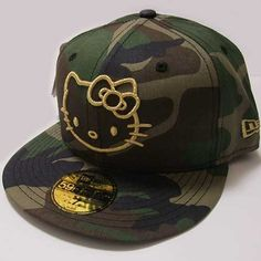 HELLO KITTY CAMO HAT
