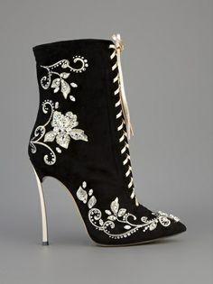 CASADEI - embroidered stiletto boot 7