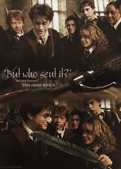 Harry Potter and prisoner of Azkaban last scene. PS: Rupert looks so cute in the second picture ❤️ Harry Potter Ron Weasley, Immer Harry Potter, Harry Y Hermione, Harry Potter Lines, Harmony Harry Potter, Always Harry Potter, Mundo Harry Potter, Harry Potter Feels, Harry James Potter