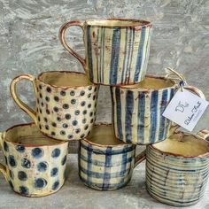 """The word """"ceramics"""" comes form the Greek word """"keramikos"""", which means pottery. The line of the Greek word means potter's clay and ceramic art directly … Pottery Mugs, Ceramic Pottery, Pottery Art, Thrown Pottery, Ceramic Cups, Ceramic Art, Vintage Ceramic, Tassen Design, Mug Art"""