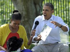 the pouts and flotus reading where the wild things are