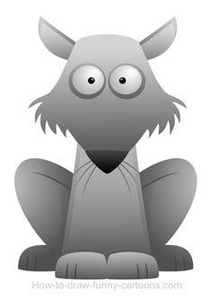Cool cartoon wolf with long ears!