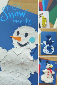 Kein Schnee draußen? Dann bauen wir uns den Schneemann einfach selbst drinnen.