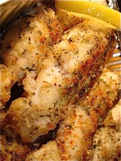Garlicky Lemon Pepper Chicken ... Not sure how I'll make this Paleo, but I'm sure there's a way ... maybe almond flour instead?  Or no flour at all?   Hmmm ...