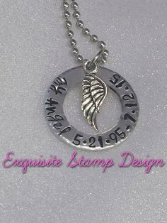 My Angel Necklace  Personalized Jewelry  by ExquisiteStampDesign