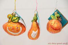 NWT-CHRISTOPHER-RADKO-WACKY-PATCH-GANG-Pumpkin-Halloween-Set-3-RARE-Ornaments