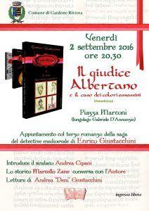 """MedioEvo Weblog: """"Il giudice Albertano e i colori assassini"""" presentazione a Gardone Riviera (BS)"""