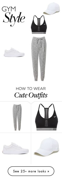 """""""Cute but also a great workout outfit"""" by erinkgraves on Polyvore featuring NIKE, Related, Sole Society and Vans"""