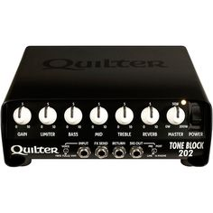 Quilter Labs Tone Block 202 Guitar Amp Head - Ideas of Guitar Amplifiers Guitar Shop, Cool Guitar, Cable Drum, Best Speakers, Bass Amps, Guitar Accessories, Guitar Strings, Tool Kit, Labs