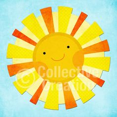 Sunshine Digital Clipart - Personal and Commercial Use - Card Making, Scrapbooking, Paper Crafts etc