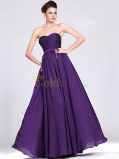 [US$167.97] A Line Floor Length Satin Chiffon Evening Dress with Detachable Floral Straps