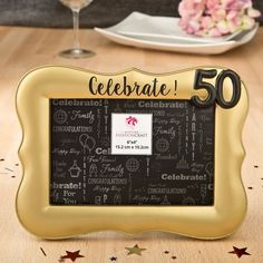 Other Wholesale Party Supplies 14882: 25 Golden 50Th Wedding Anniversary Or 50Th Birthday 4 X 6 Frame Gift Favors -> BUY IT NOW ONLY: $136.88 on eBay!