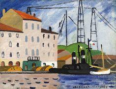 "LOUIS MATHIEU VERDILHAN (French, 1875-1928) - ""Pont transbordeur"""