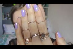 Beautiful nails and rings. Sunbeamsjess- Youtuber