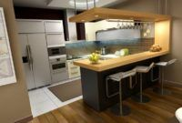 Table with Kitchen Island Design